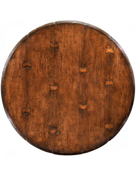 Round & Oval Side Tables Round Dark Brown Oak Bar Table-50