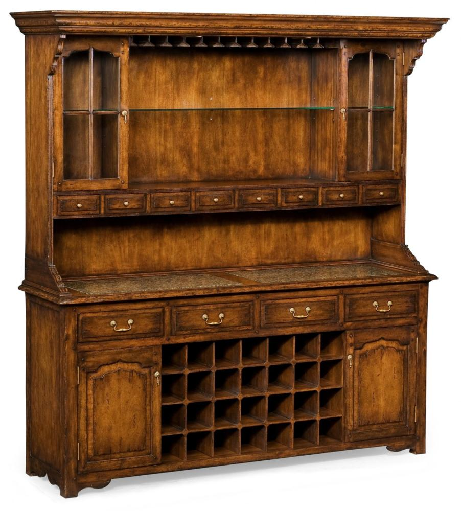 Home Bar Furniture Walnut Drinks Cabinet