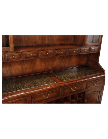 Breakfronts & China Cabinets Home Bar Furniture Walnut Drinks Cabinet