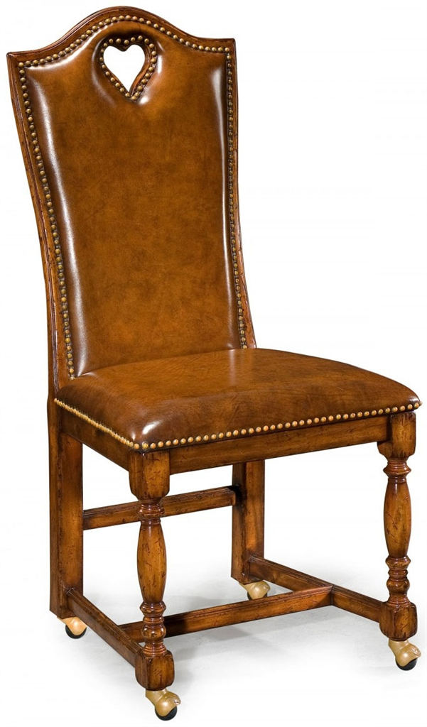 Game Card Tables & Game Chairs Antique High Back Side Chair-85 - Antique High Back Side Chair-85