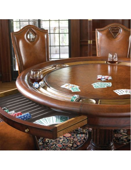 Game Card Tables & Game Chairs Antique High Back Side Chair-85