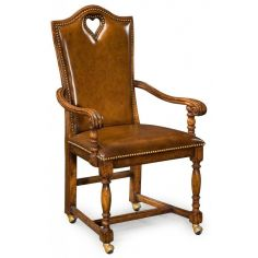 High End Dinning Heart Arm Chair