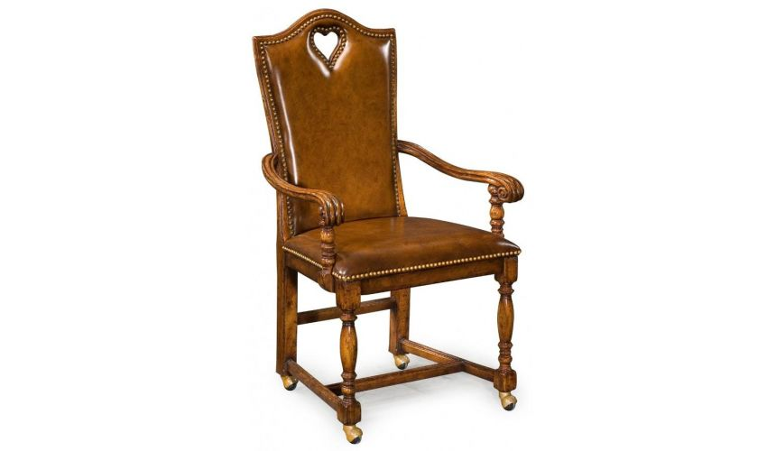 Dining Chairs High End Dinning Heart Arm Chair