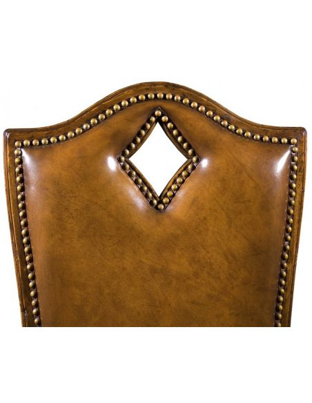 Luxury Leather & Upholstered Furniture Quality Sofa Leather and Upholstered Furniture Diamond Side Chair