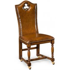 Antiqued Brown High Backed Side Chair-89