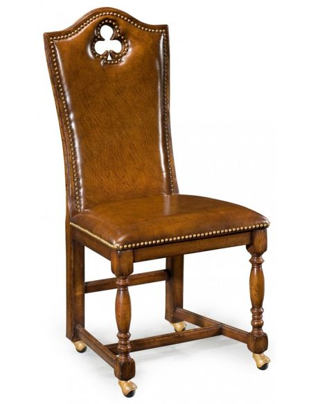 Luxury Leather & Upholstered Furniture Quality Sofa Leather and Upholstered Furniture Club Side Chair