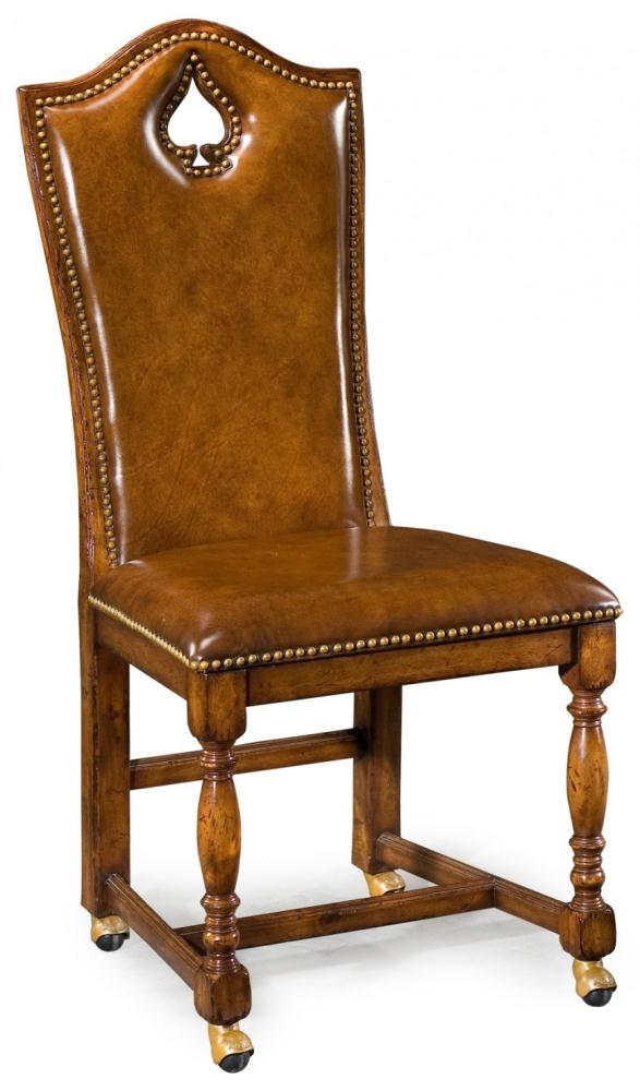 Quality Sofa Leather And Upholstered Furniture Spade Side Chair