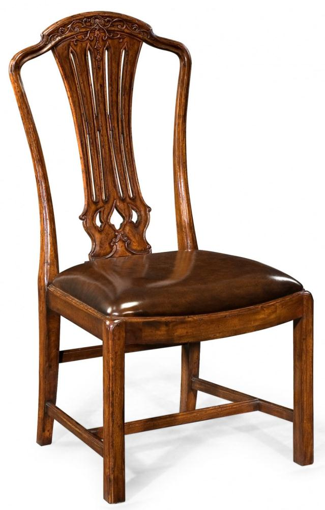 High end dinning room furniture carved side chair for Dining room end chairs