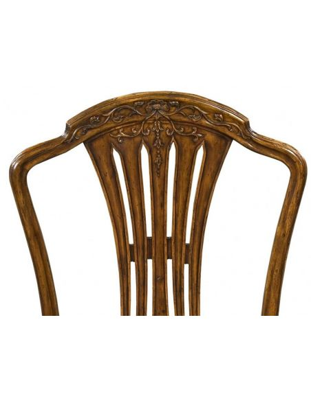 High End Dinning Room Furniture Carved Side Chair