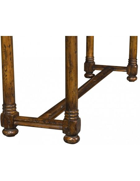 Heavily Distressed Console Table-14