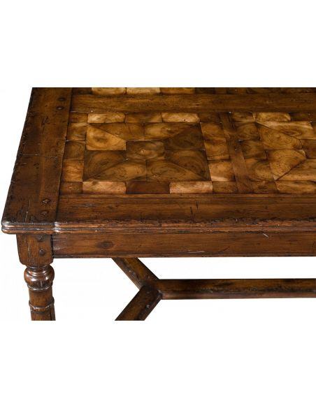 Rectangular and Square Coffee Tables Heavily Distressed Coffee Table-15