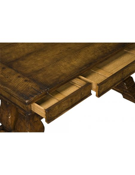 Walnut Writing and Center Tables-18