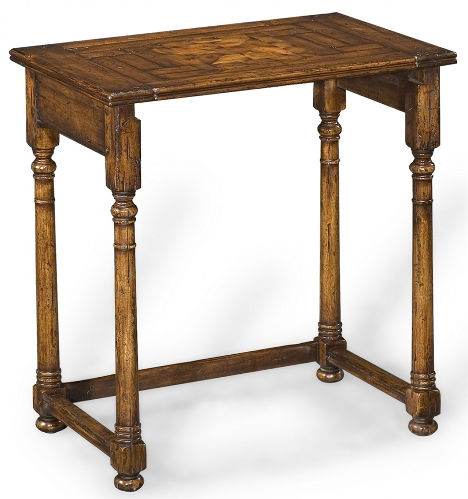 Square U0026 Rectangular Side Tables Antique Wooden Nesting Of Three Tables 21