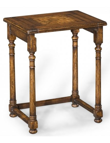 Square & Rectangular Side Tables Antique Wooden Nesting of Three Tables-21