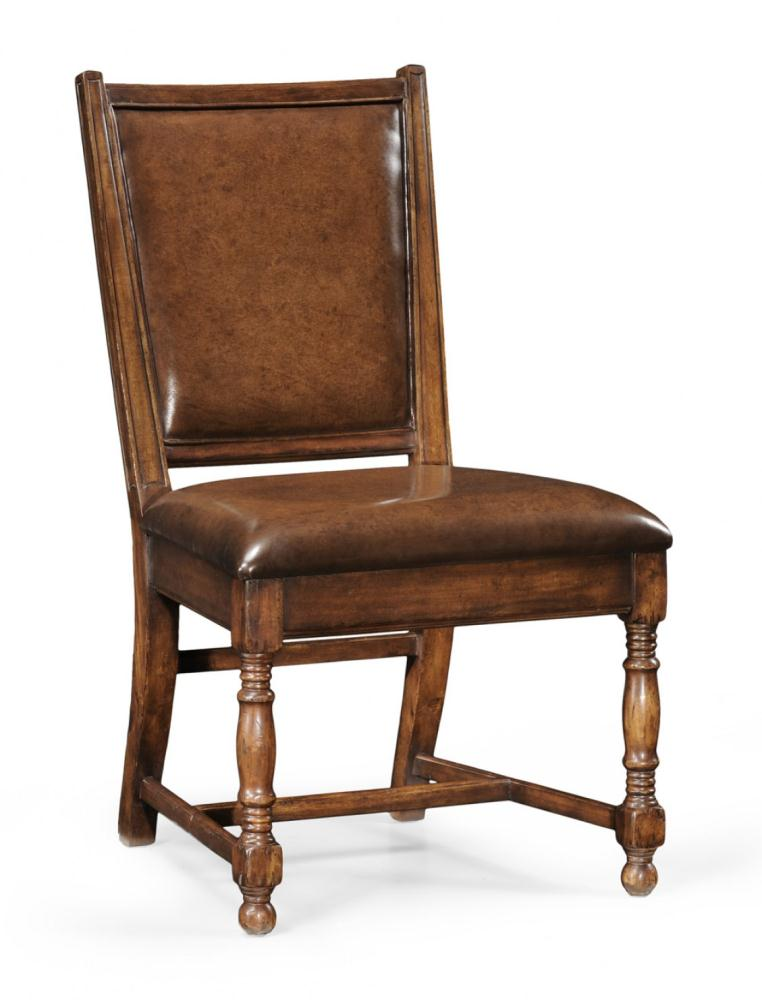 High end dinning arm chair in brown bernadette livingston for Dining room end chairs