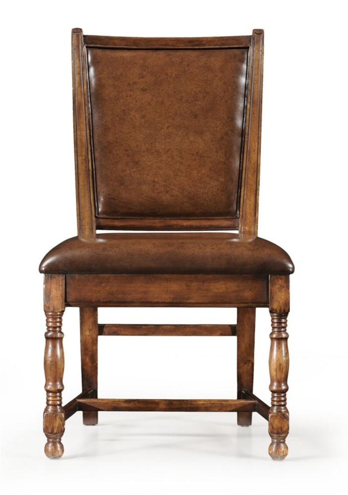 High End Dinning Room Furniture Side Chair In Brown