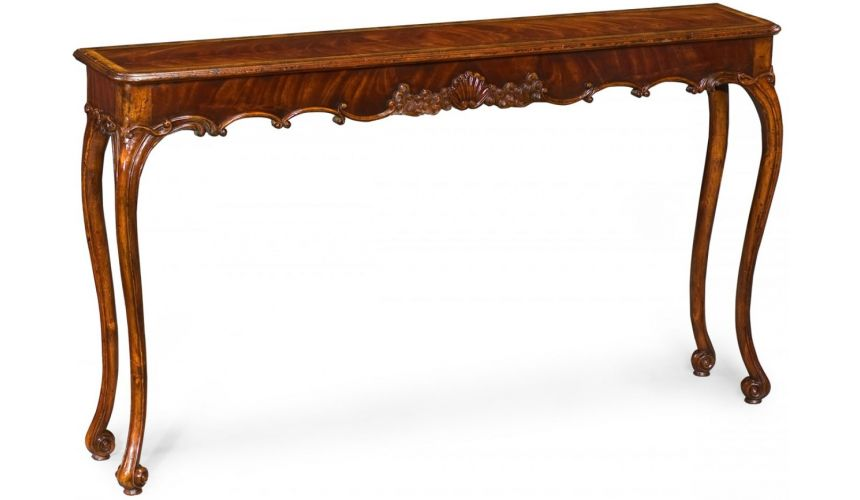Elegant Classically Style Mahogany Console Table-31