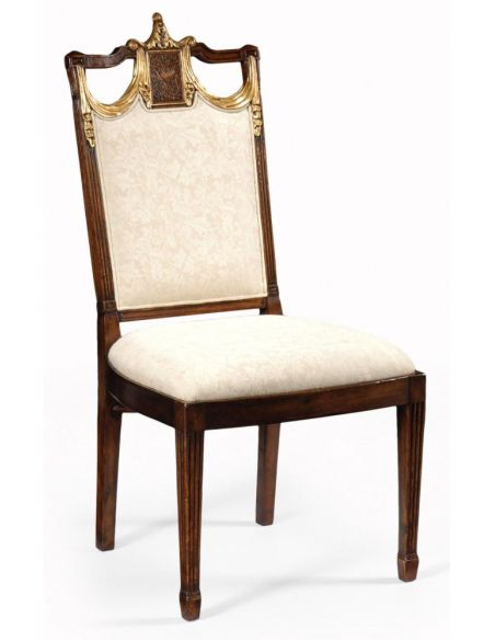 Dining Chairs High End Dinning Room Furniture Side Chair In Medium Walnut
