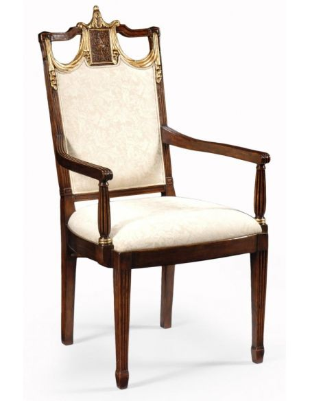 Dining Chairs Hand Carved Arm Chair Dinning Room Furniture