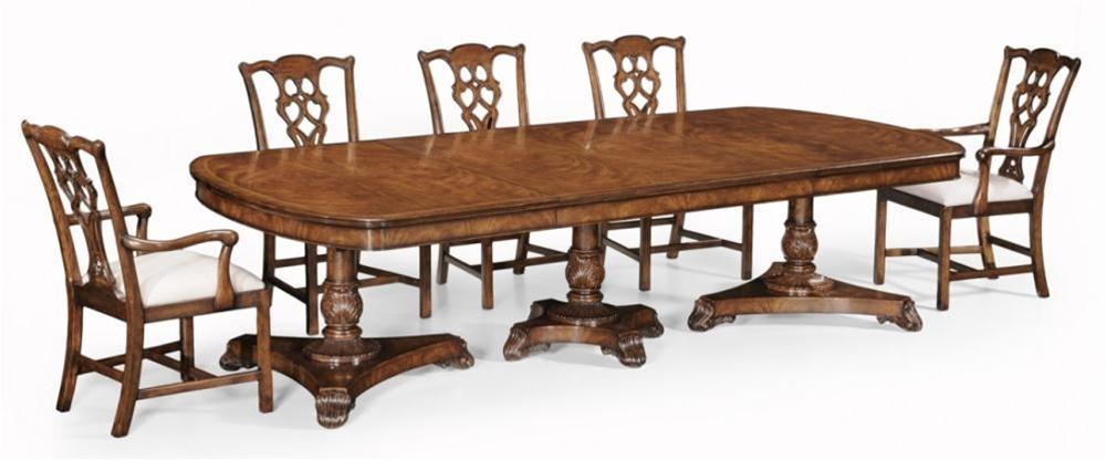 High end furniture dining table in walnut veneer for High end restaurant furniture