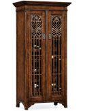Oak Heavily Distressed Tall Wine Cabinet-26
