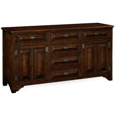 English Tudor style dark oak cabinet or dresser