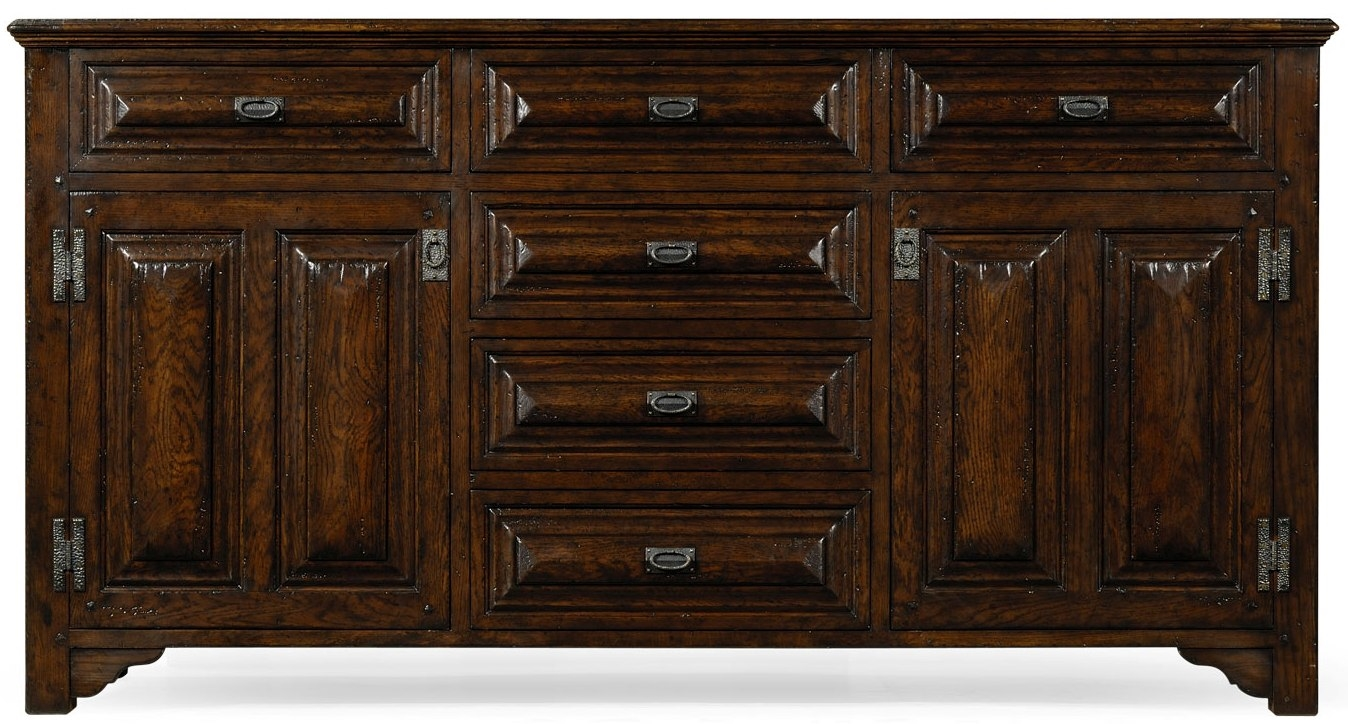 english tudor style dark oak cabinet or dresser