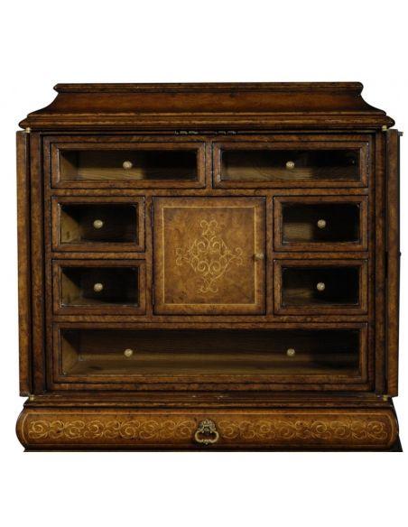 Home Bar Furniture Fine Furniture Display cabinet Seaweed Humidor