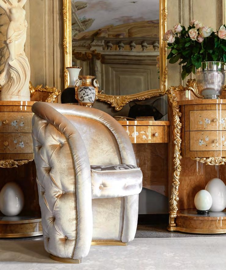 Hand Made Carvings Make This Bedroom Plush And Royal