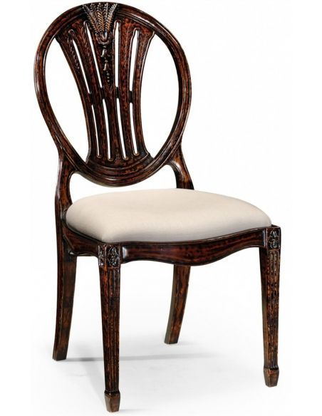 Dining Chairs High End Dinning Rustic Black Painted Side Chair