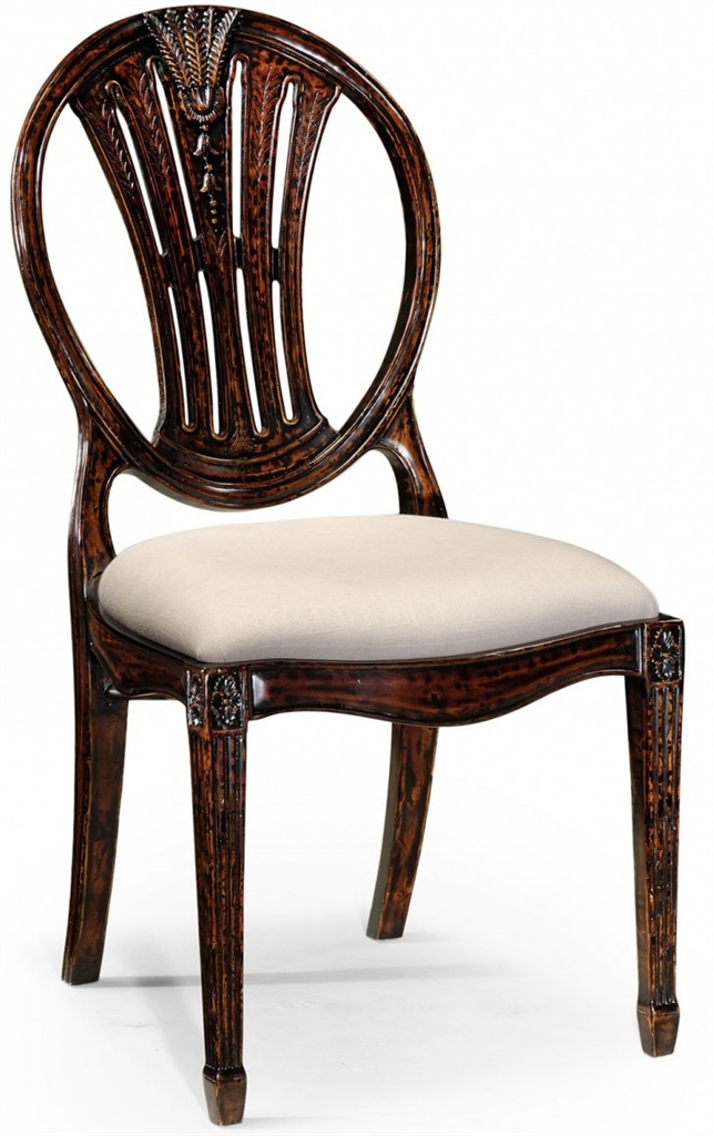 Dining Room End Chairs Of Sheraton Style Inlaid Dining Chairs For A Formal Room