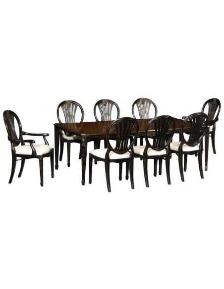 Dining Chairs High End Dinning Black Painted Arm Chair