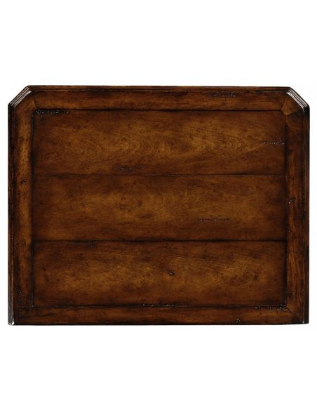 Square & Rectangular Side Tables Planked walnut three drawers chest