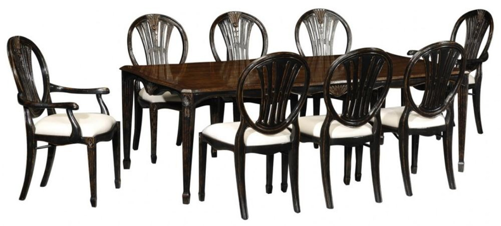 High end dinning room furniture black painted dining table for High end dining room furniture