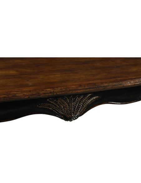 Dining Tables High End Dinning Room Furniture Black Painted Dining Table With Walnut Top