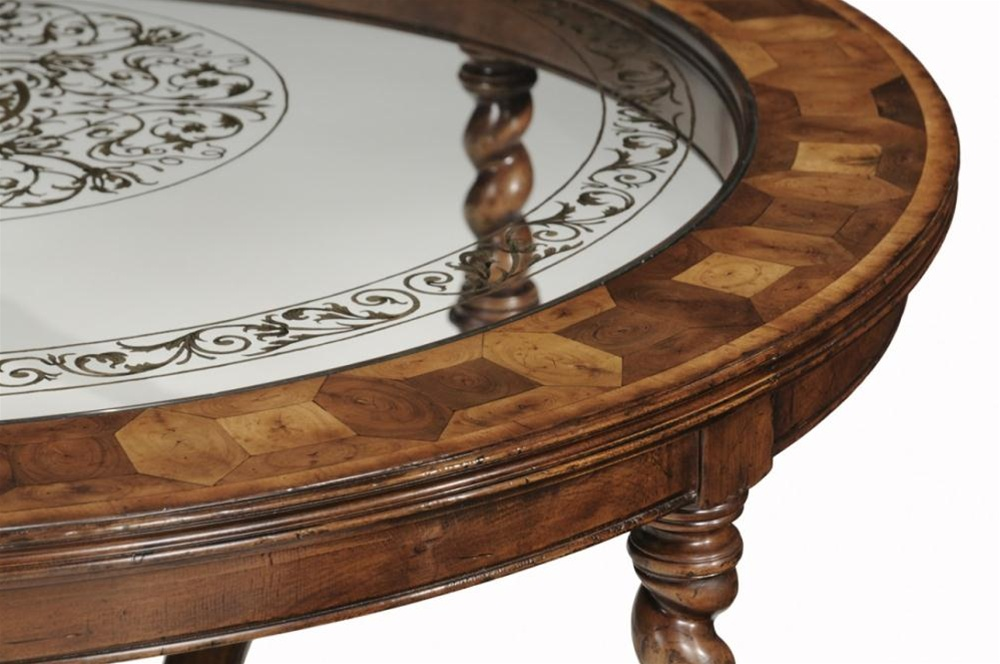 high end furniture round oval coffee table