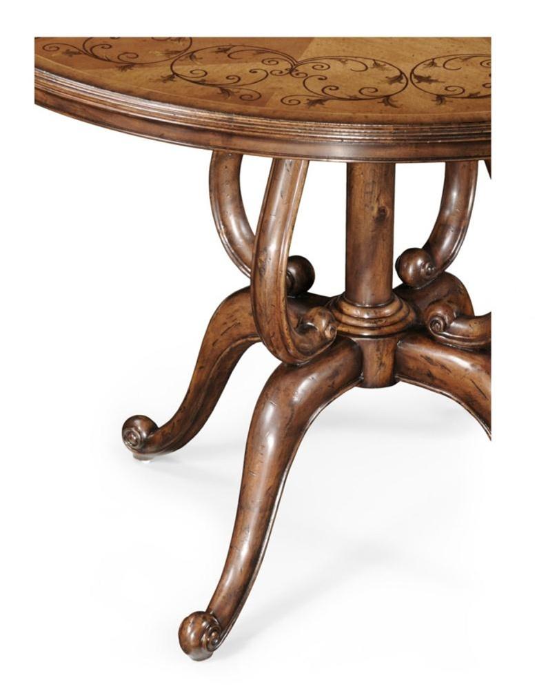 Luxury furniture round foyer center table bernadette for Furniture centre table