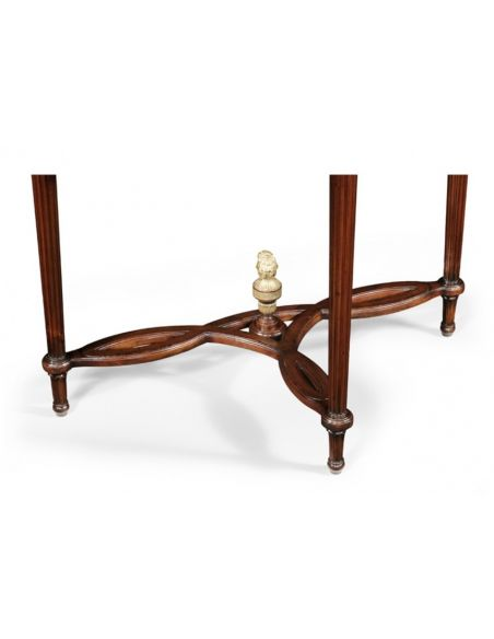 Console & Sofa Tables Demilune Console Table in Mahogany