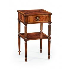 Bedside or lamp table with a storage drawer.