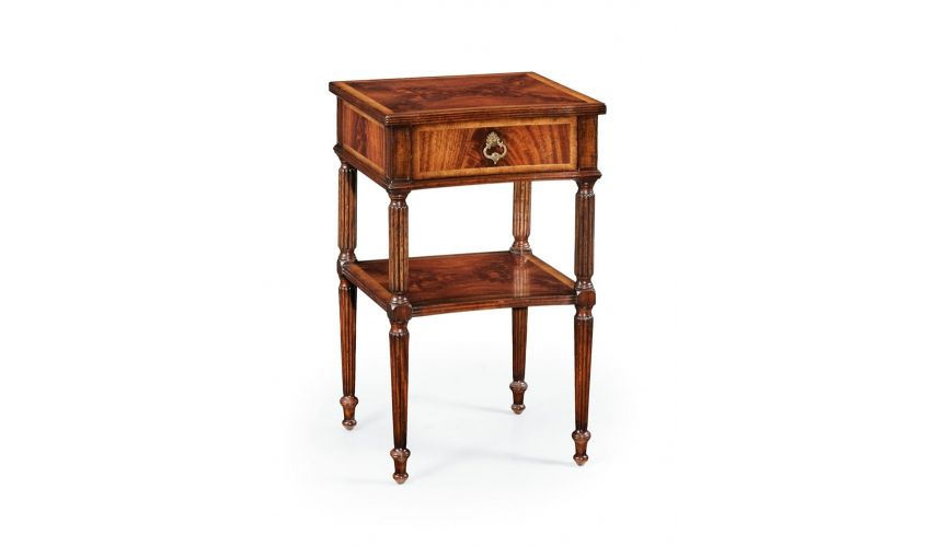 Square & Rectangular Side Tables Bedside or lamp table with a storage drawer.