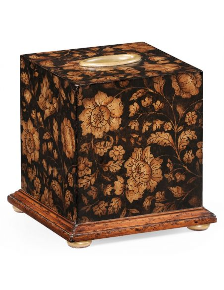 Tabletop Decor Regency Chinoiserie style Tissue Box-69