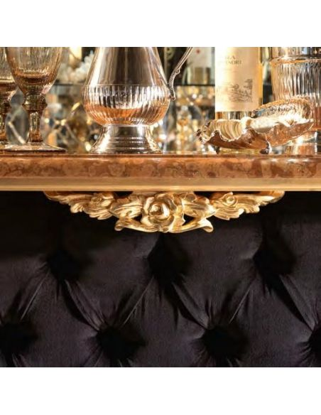 Home Bar Furniture Tufted Bar or Reception Counter