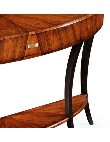 Console & Sofa Tables Art Deco Demilune Console Table-17