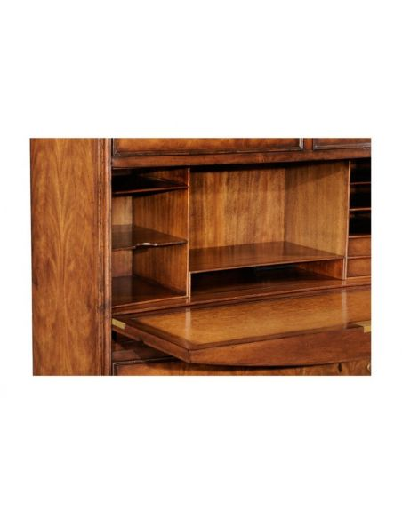 Cabinets Desks Chairs - Home Office Cabinet in Medium Crotch Walnu