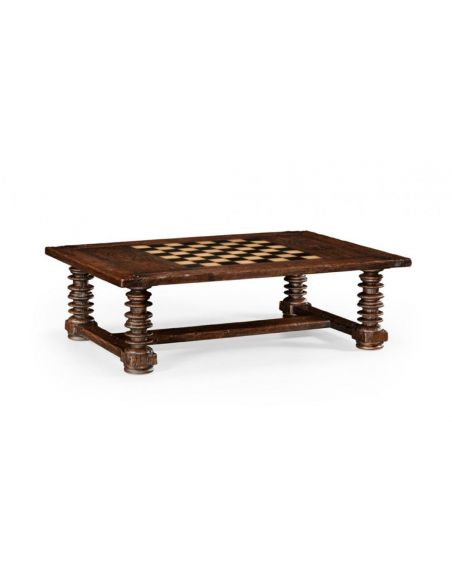 High End Furniture Rectangular Coffee Game Table