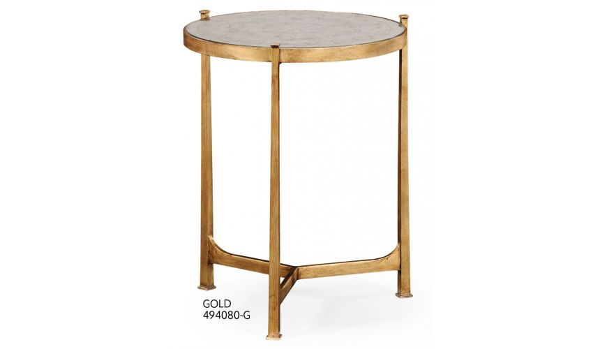 Square & Rectangular Side Tables Contemporary Circular Lamp Table-82