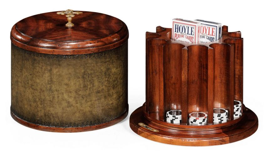Game Card Tables & Game Chairs Mahogany Poker Chip Box