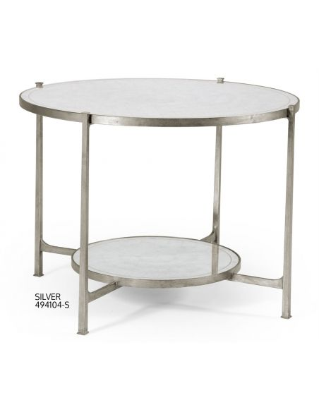 Modern Furniture Glass Top Circular Center Table-06