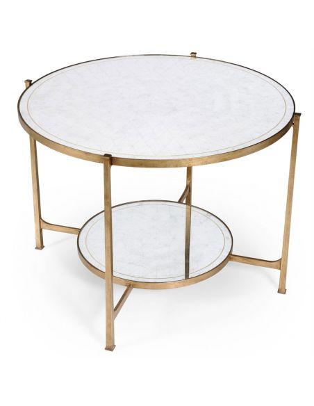 Modern Furniture Glass Top Circular Center Table-06