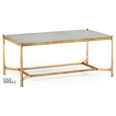 Contemporary Rectangular Glass Top Coffee Table-46